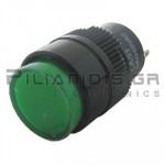 Ενδεικτική λυχνία LED Ø16mm 230VAC πράσινη