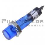 Indicator Neon; Blue 12V; Drilling O7mm