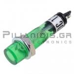 Indicator Neon; Green 12V; Drilling O7mm