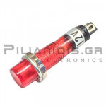 Indicator; Red 12VDC; Drilling O7mm