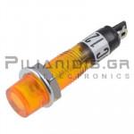 Indicator Neon; Orange 12V; Drilling O7mm