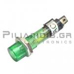 Indicator Neon; Green 220VAC; Drilling O7mm