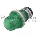 Ενδεικτική λυχνία NEON Ø15mm 220VAC πράσινη με FASTON