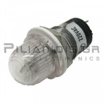 Indicator Neon; Transparent 220VAC; Drilling O15mm