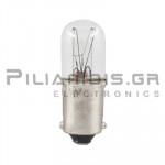 Filament lamp miniature BA9s Neon 240V 10mA 2,4W Ø10x28mm C-7A