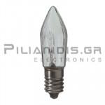 Filament lamp miniature E10 15V 200mA 3W Ø14x40mm