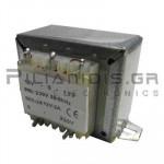 Transformer Vin:230VAC - Vout:12VACx2  2x1A