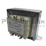 Transformer Vin:230VAC - Vout:12VACx2  2x1,75A
