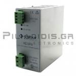 Τροφοδοτικό ράγας 24VDC; 5Α; 90-264VAC; 110-230VDC