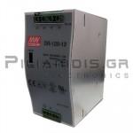 Τροφοδοτικό ράγας 120W; 12VDC; 10A; 88-132/176-264VAC