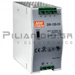 Τροφοδοτικό ράγας 120W; 24VDC;  5A; 88-132/176-264VAC
