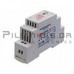 Τροφοδοτικό ράγας 12W; 12VDC; 1,25A; 85-264VAC