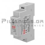 Τροφοδοτικό ράγας 15.2W; 24VDC; 0,63A; 85-264VAC