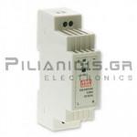 Τροφοδοτικό ράγας 12W; 5VDC; 2,4A; 85-264VAC
