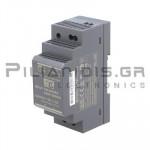Τροφοδοτικό ράγας 24W; 12VDC; 2A; 85-264VAC;