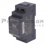 Τροφοδοτικό ράγας 30W; 24VDC; 1,5A; 85-264VAC;
