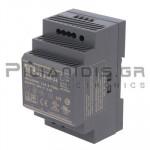 Τροφοδοτικό ράγας 60W; 24VDC; 2,5A; 85-264VAC;