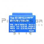 Μετασχηματιστής Πλακέτας   1.5VA  230V  2x6V  2x125mA