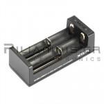 Φορτιστής Li-Ion x 2θέσεων 0.25/1.0A,  (Vin: 5Vdc/1A, Micro USB)