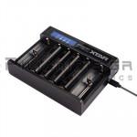 Φορτιστής Li-Ion x 6θέσεων 0.25/1.0A,  (Vin1&2: 5Vdc/1A, Micro USB)