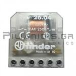 FINDER Ρελέ Καστάνιας  26.04 230VAC 2ΕΠ/NO