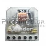 FINDER Ρελέ Καστάνιας  26.08 230VAC 2ΕΠ/NO