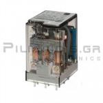 Relay Ucoil: 24VDC  600R 10A/250VAC 3PDT
