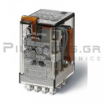 Relay Ucoil: 24VAC  190R  7A/250VAC 4PDT