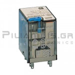 Relay Ucoil: 48VDC 2400R 10A/250VAC DPDT