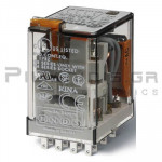Relay Ucoil: 110VAC 4000R  7A/250VAC 4PDT