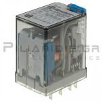 Relay Ucoil: 220VDC 54K  7A/250VAC 4PDT