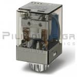 Relay Ucoil: 220VDC 37,3K 10A/250VAC DPDT
