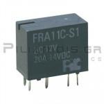 Relay Ucoil: 12VDC 20A 255R  SPDT