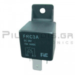 Relay Ucoil: 24VDC 70A 320R; SPST (NO) faston