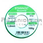 ΚΟΛΛΗΣΗ ΧΩΡΙΣ ΜΟΛΥΒΔΟ HF32  1.0mm  Fg.3.5% 100g