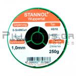 ΚΟΛΛΗΣΗ ΧΩΡΙΣ ΜΟΛΥΒΔΟ HS10  1.0mm  Fg.2.5% 250g